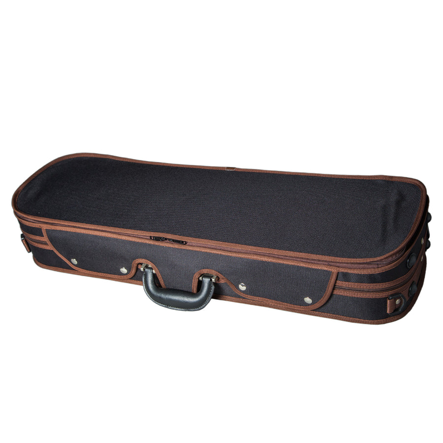 Sky Violin Oblong Case VNCW13 Solid Wood with Hygrometers Black/Green Khaki