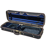 Sky Violin Oblong Case VNCW02 Solid Wood with Hygrometers Black/Blue