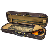 Sky Violin Oblong Case VNCW05 Solid Wood with Hygrometers Brown/Yellow