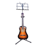 Sky Durable Adjustable Guitar & Sheet Music Stand with Neck Support Combo Stand