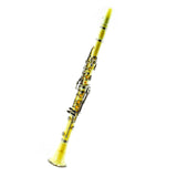 SKY Yellow ABS Student Bb Clarinet with Case, Mouthpiece, 11 Reeds, Care kit and more