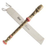 Paititi Soprano Recorder 8-Hole With Cleaning Rod + Carrying Bag, Creamy/Pink Color Key of C