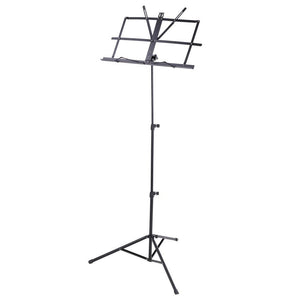 Sky Lightweight Adjustable Folding Music Stand with Carrying Bag Black