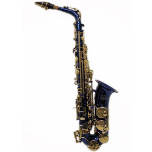 Sky E Flat Lacquer Alto Saxophone with F# Key, Case and 10 Reeds, Blue