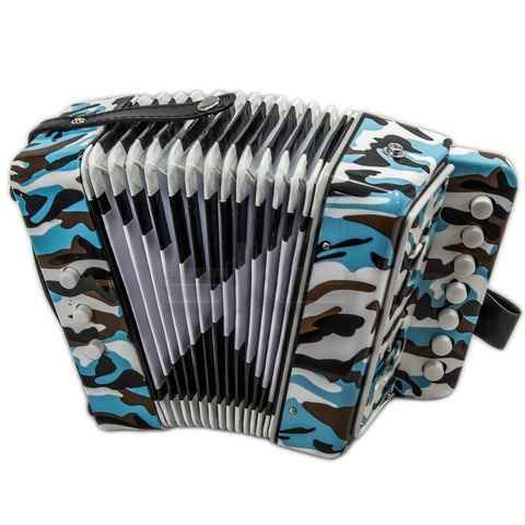 SKY Accordion Camouflage Pattern 7 Button 2 Bass Kid Music Instrument