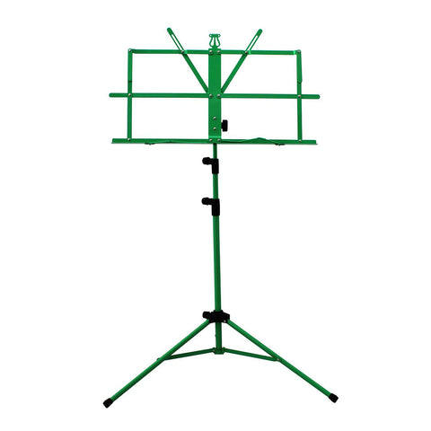 Sky Lightweight Adjustable Folding Music Stand with Carrying Bag Green