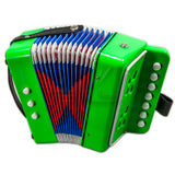 SKY Accordion Bright Green Color 7 Button 2 Bass Kid Music Instrument