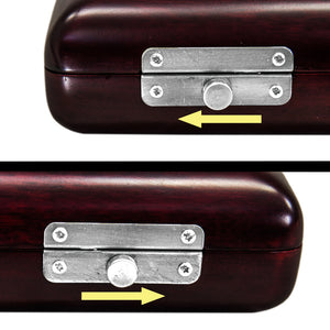 Paititi Mahogany Wood B foot Flute Hard Case French Style High Quality Flute Case