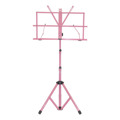 Sky Lightweight Adjustable Folding Music Stand with Carrying Bag Pink