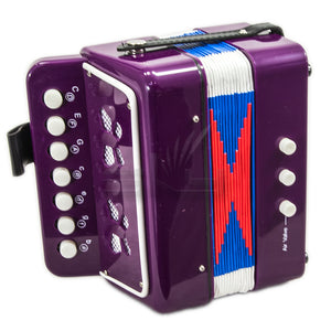 SKY Accordion Purple Color 7 Button 2 Bass Kid Music Instrument