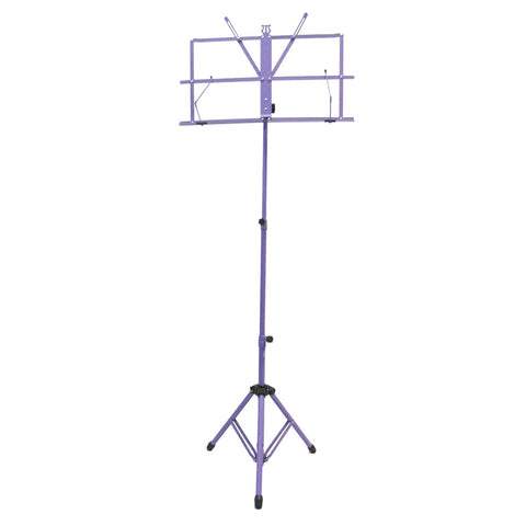 Sky Lightweight Adjustable Folding Music Stand with Carrying Bag Purple