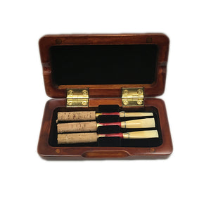 Sky Premium Medium Soft 3 PC Oboe Reeds with Premium Maroon Wood Reeds Box