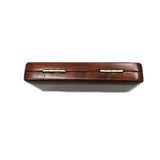 Maroon Wooden Oboe Reed Case with Smooth Surface for 3pcs Oboe Reeds(CASE ONLY)