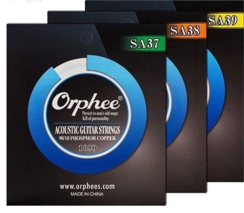 Orphee 90/10 Phosphor Copper Acoustic Guitar String SA37/SA38/SA39