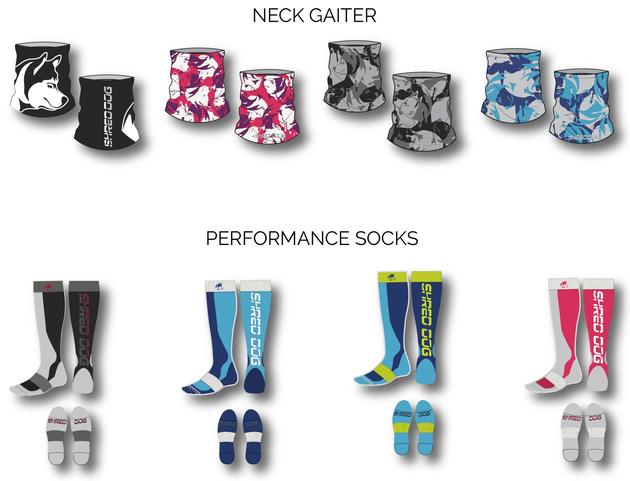 Final Designs Neck Gaiter & Performance Socks