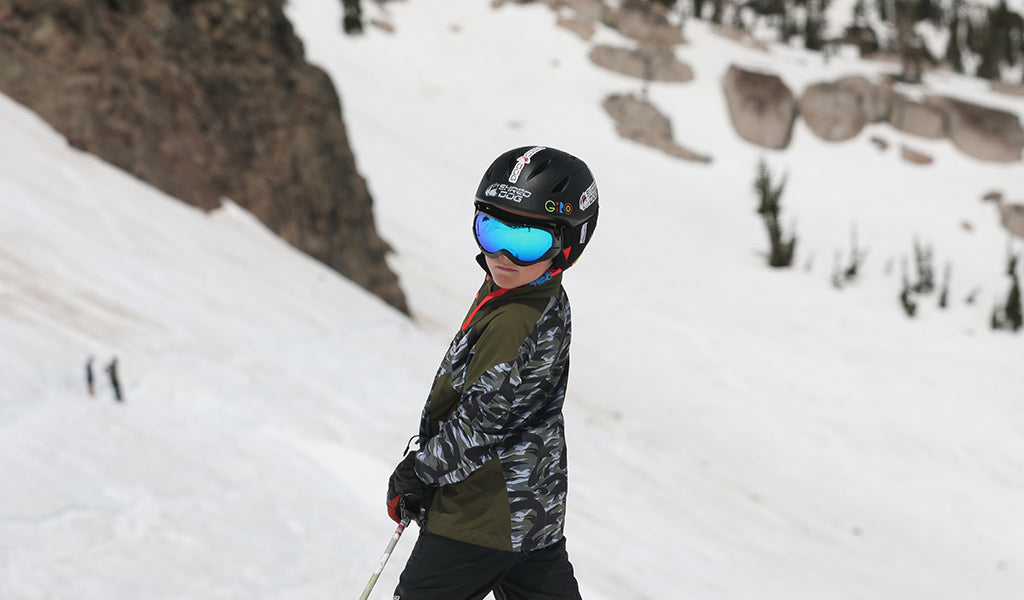 Kid skiing at Squaw Valley