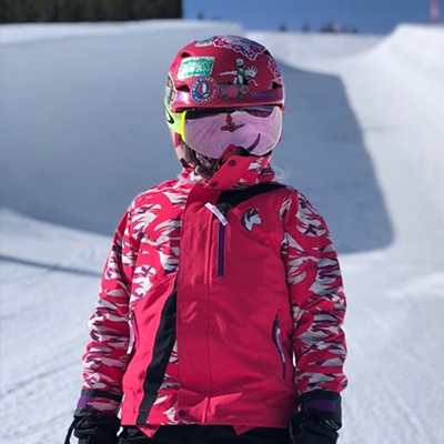 shredder snowboard girl wearing SHRED DOG gear