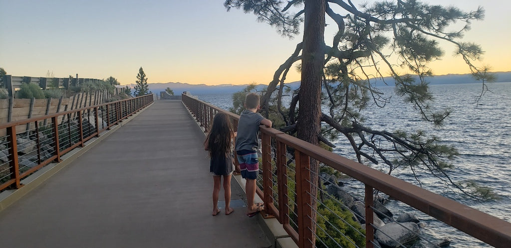 sunset at the Tahoe East Shore Trail