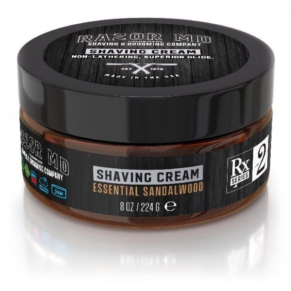 Razor MD - Essential Sandalwood Shave Cream 8oz