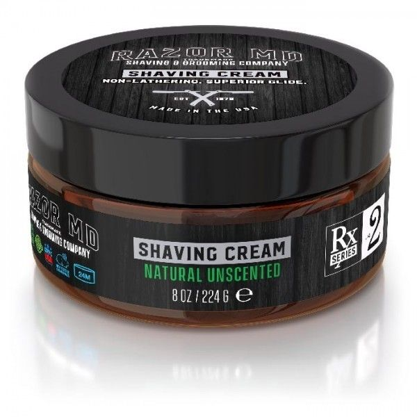 Razor MD - Natural Unscented Shave Cream 8oz