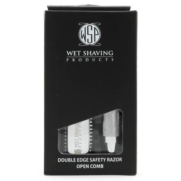 "Wet Shaving Products - WSP ""El Grande 2"" Double Edge Safety Razor (Closed Comb) - Alonzo's Oil"