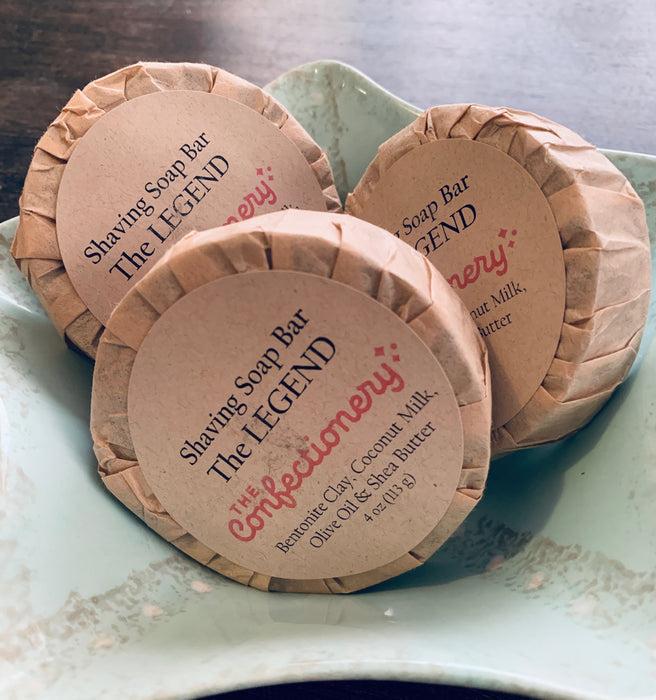 The Confectionery-The LEGEND-Shaving Soap with Coconut Milk & Bentonite Clay