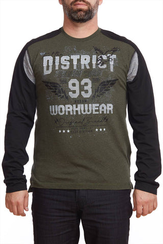 """""District"""" printed long sleeve t-shirt"