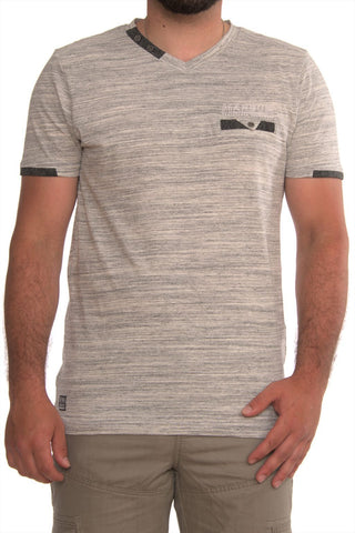 Short sleeve V-Neck Print T-Shirt