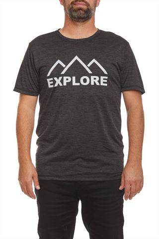 ''Explore'' printed T-shirt
