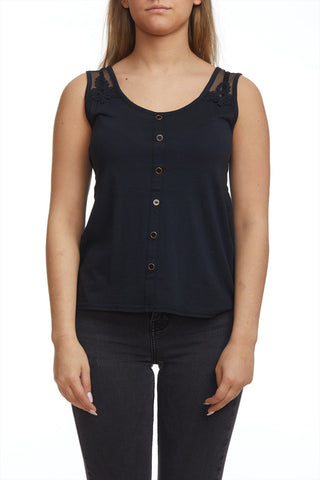 High low camisole with buttons