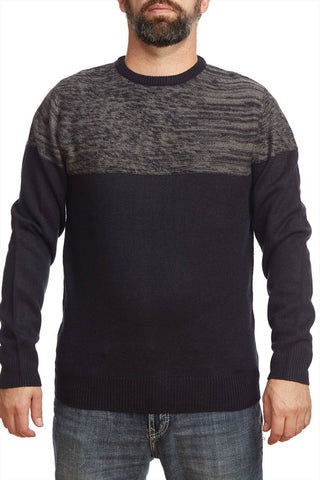 2 colors round neck sweater