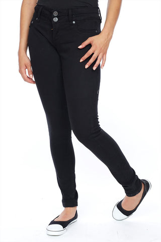 Lift, slim & shape low rise skinny jean