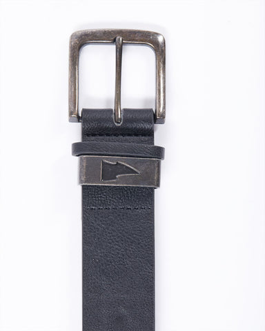 Leatherette belt with logo