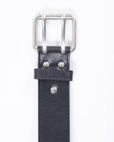 Double hole leatherette belt
