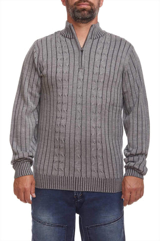 Ribbed zip sweater