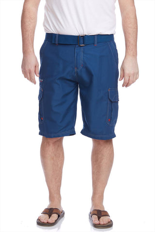 Micro fibre cargo short with Belt