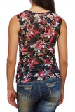 Lace floral sleeveless top