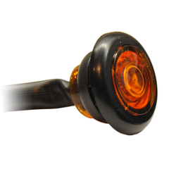 "3/4""  LED Round P2-rated Marker Light: 1-diode: Flat Lens: 7"" Lead"