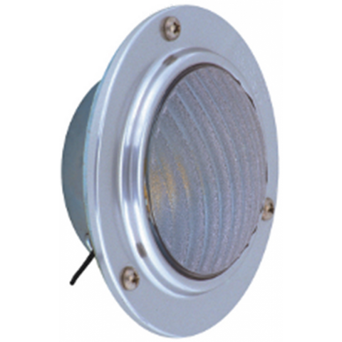 LED Stepwell/Dome Light - Recessed Mount - Chrome Finish - Clear Lens