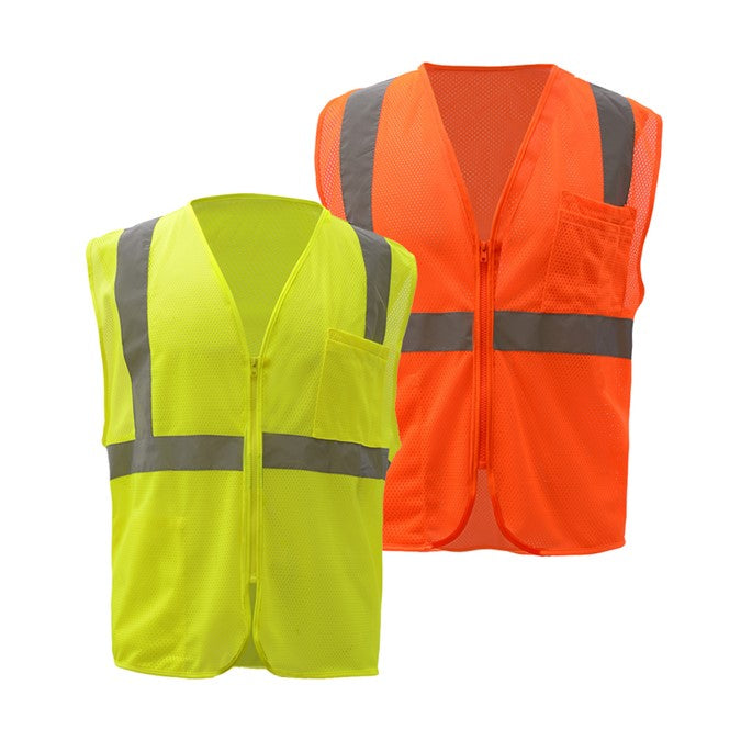 GSS Standard Class 2 Mesh Zipper Safety Vest