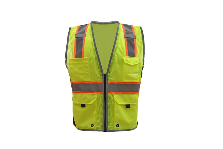 GSS CLASS 2 HYPE-LITE SAFETY VEST W/BLACK SIDE