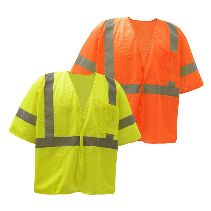 GSS Standard Class 3 Mesh Zipper Safety Vest