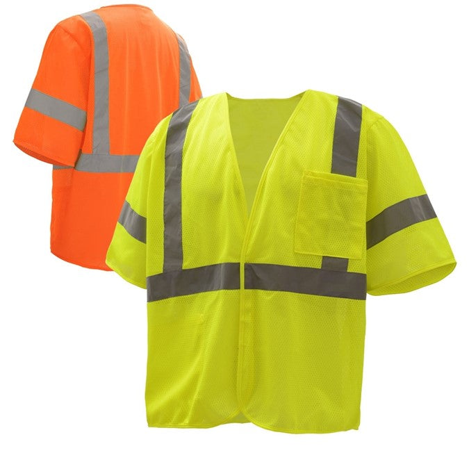 GSS Standard Class 3 Mesh Hoop & Loop Safety Vest