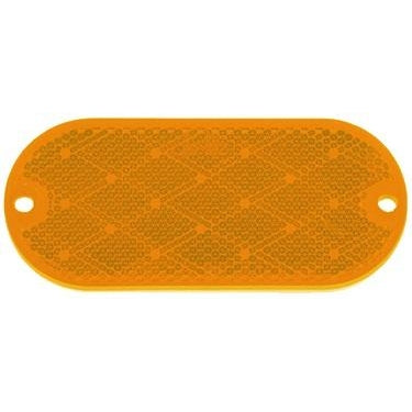 Oval Reflector w/ Mounting Holes - Amber, Clear, or Red