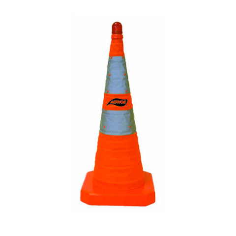 "AERVOE 28"" Traffic Safety Cone - Collapsible with Red LED Light"