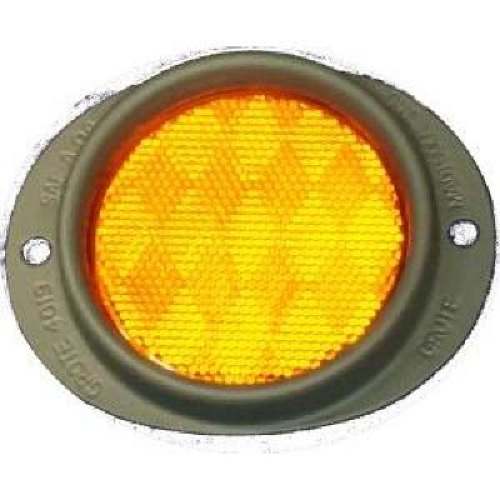 3 Armored Olive Drab Reflector - Amber Or Red - Transportation Safety