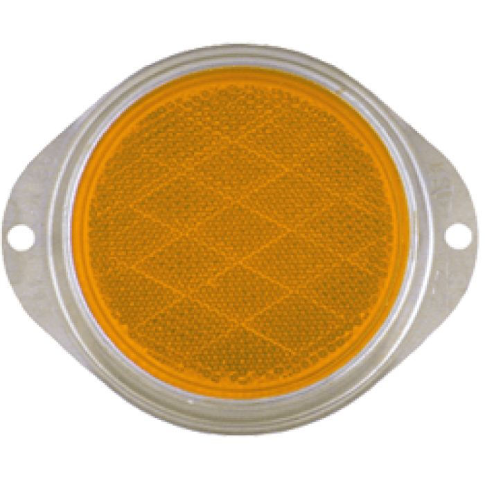 3 Reflector - Clipped Corner - Amber Or Red - Clearance