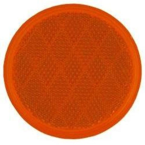 3 Stick-On Reflector - Amber Or Red - Highway Safety