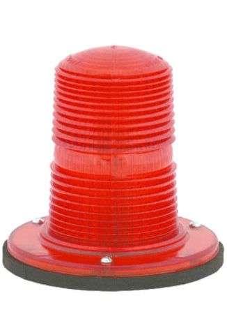 360 Degree Warning Light: Permanent Surface Mount: Amber Or Red Lens - Transportation Safety
