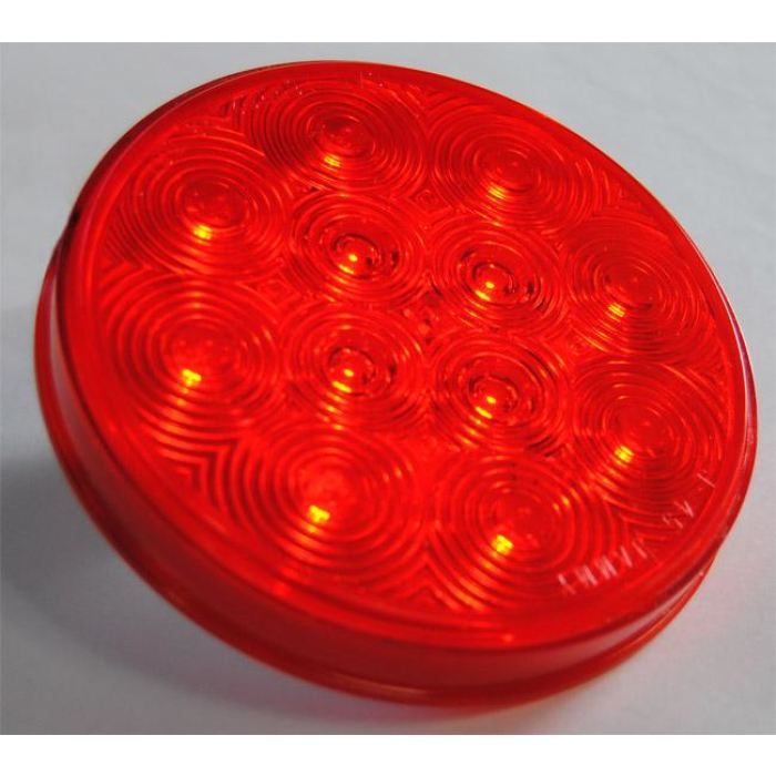 4 Round Led Stop/tail/turn Light 12 Diodes Only - Amber Or Red - Clearance